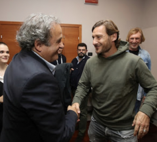 Michel Platini e Francesco Totti