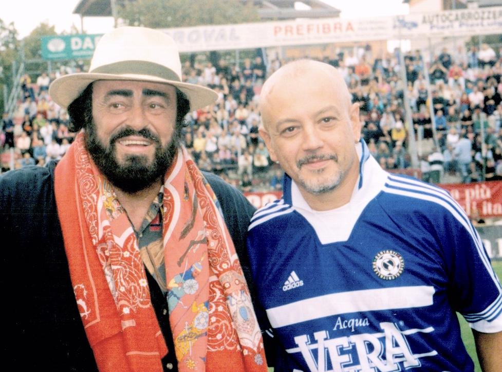 Ruggeri con Pavarotti