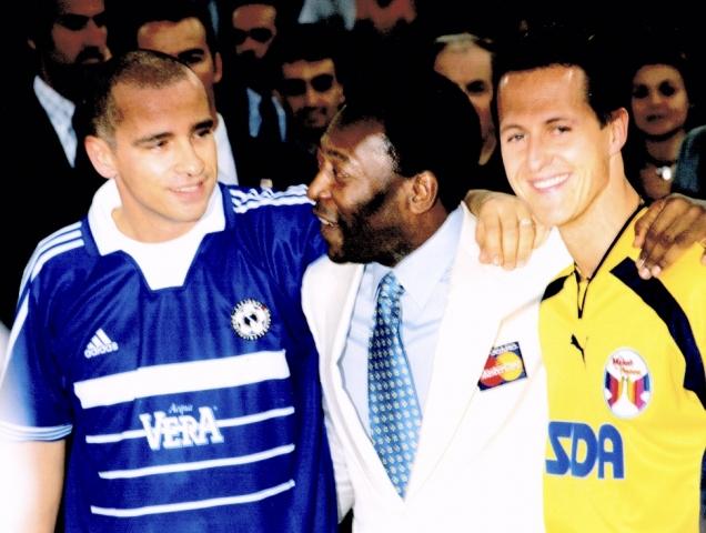 Ramazzotti con Pelé e Schumacher