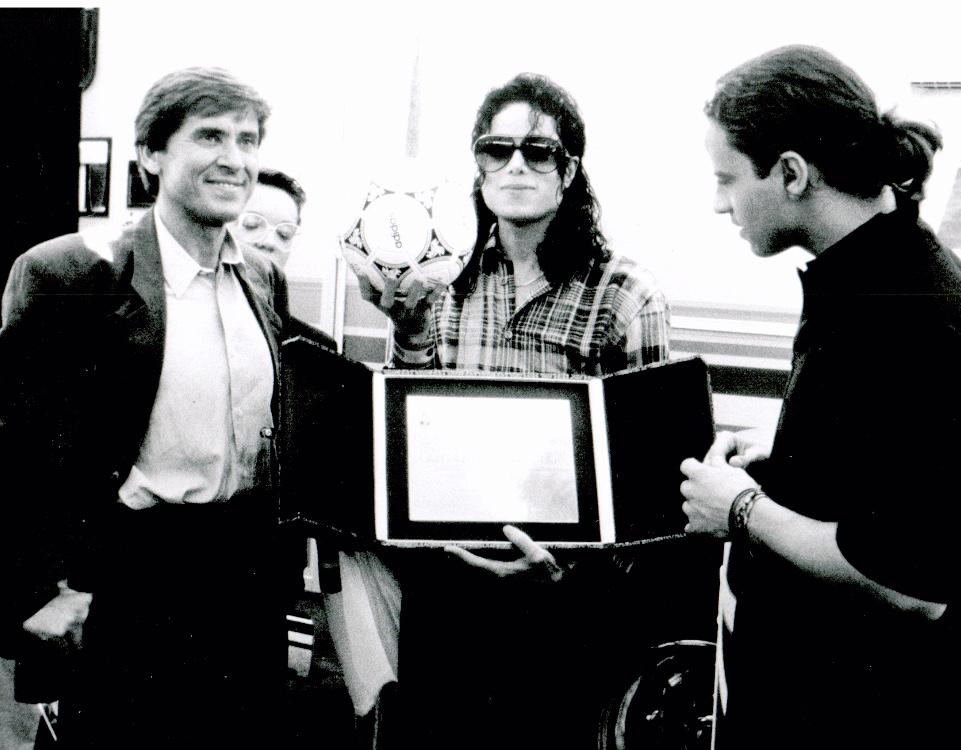 Morandi e Ramazzotti con Michael Jacson