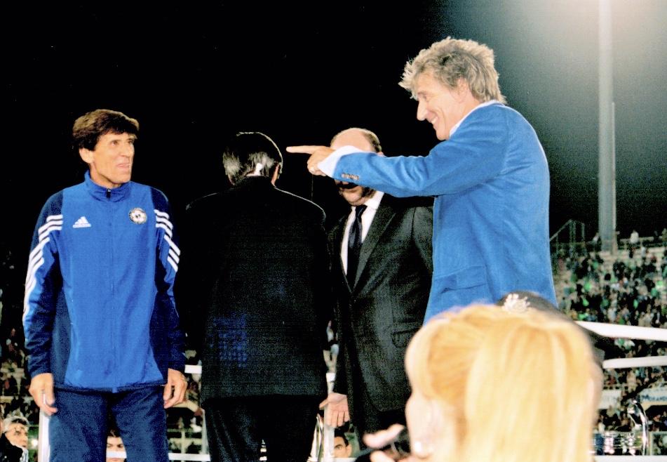 Morandi con Rod Stewart