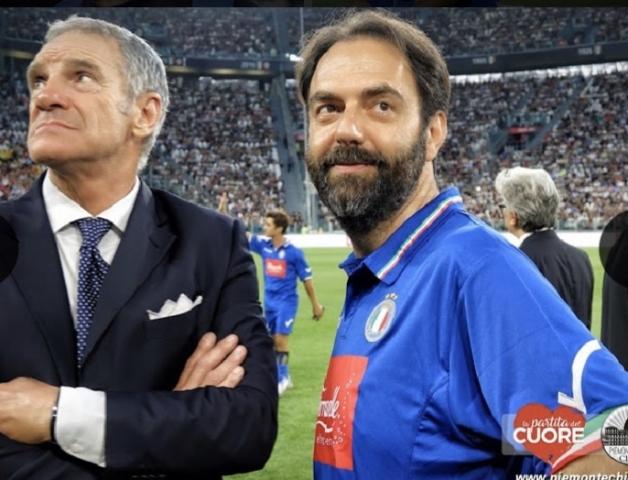 Sergio Brio allenatore dei Campioni per la Ricerca con Neri Marcore'