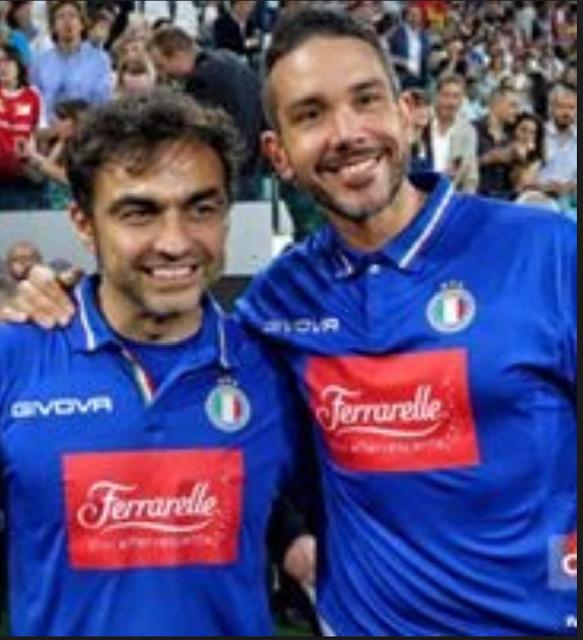 Andrea Ligabue con Antonio Mezzancella